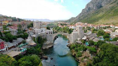 Mostar Koprusu Bosna Hersek