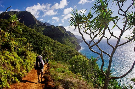 Kalalau Parkuru, Kauai, Hawaii