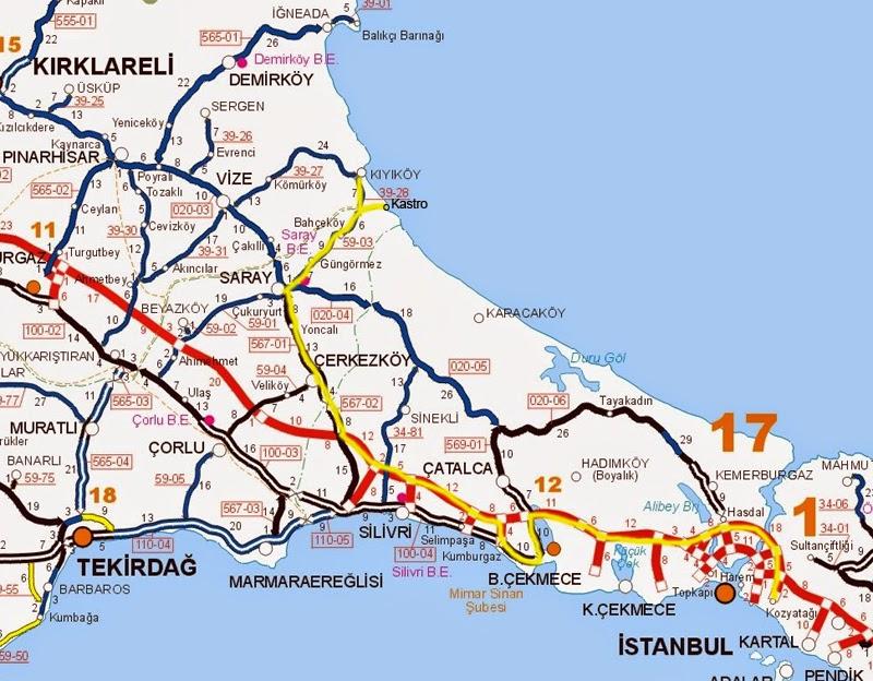 Kastro Çamlıköy Ulaşım Harita