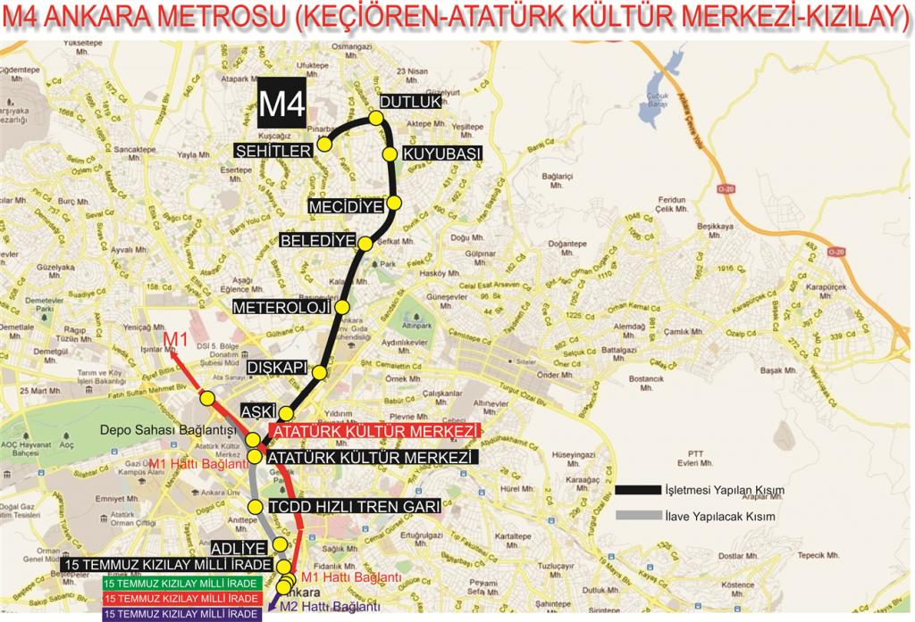 Ankara Kecioren Metrosu