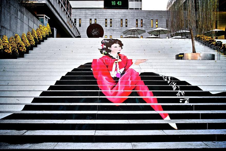 Güney Kore Merdivenler