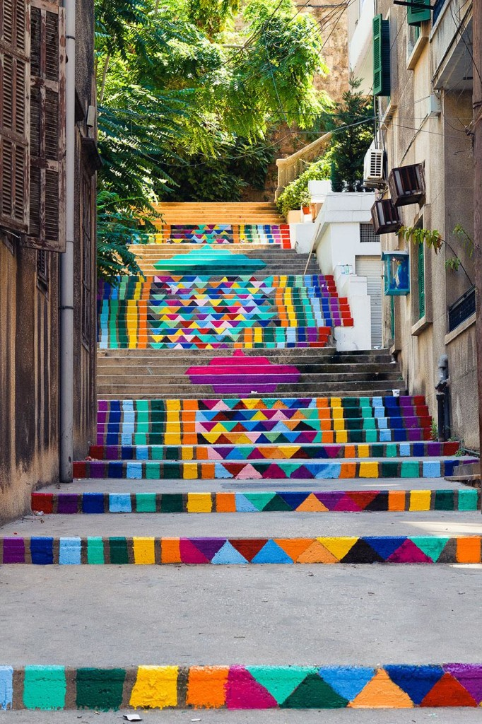 Lübnan Renkli Merdivenler
