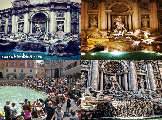 Roma Trevi Aşk Çeşmesi