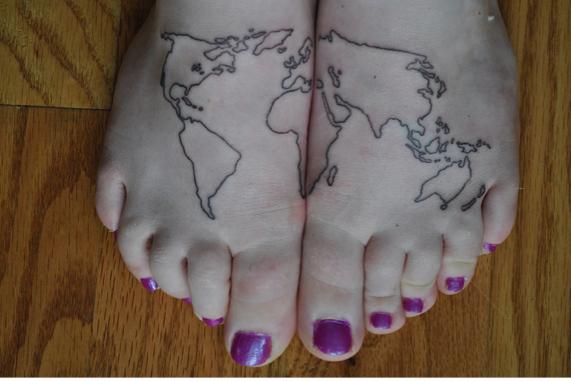 Ayakta Dünya Haritası
